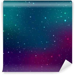 Papier Peint Vinyle Espace de fond avec des étoiles et des taches de lumière. Résumé astronomique galaxie illustration.