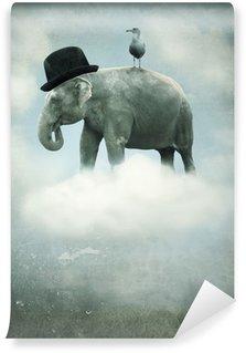 Papier Peint Vinyle Fantaisie éléphant volant