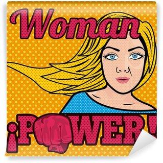 Papier Peint Vinyle Femme comics puissance