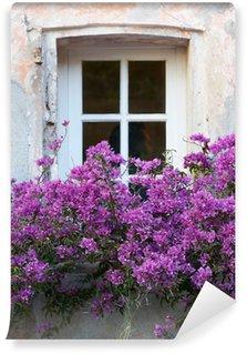 Papier Peint Vinyle Fenêtre avec des fleurs à Saint-Tropez