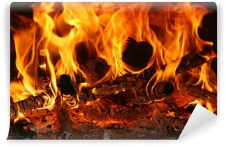 Papier Peint Vinyle Feu Fire Flammes Flames Chaleur Heat
