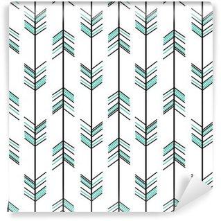 Papier Peint Vinyle Flèche modèle vectoriel sans soudure fond hippie illustration