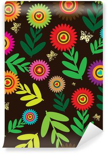 Papier Peint Vinyle Fleurs Seamless retro fond