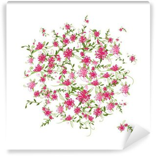 Papier Peint Vinyle Floral frame for your design