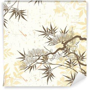 Papier Peint Vinyle Floral japonais