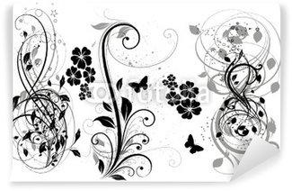 Papier Peint Vinyle Floral noir Trois