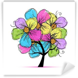 Papier Peint Vinyle Floral tree for your design