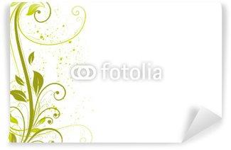 Papier Peint Vinyle Floral vert Été