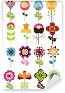 Papier Peint Vinyle Flowers retro