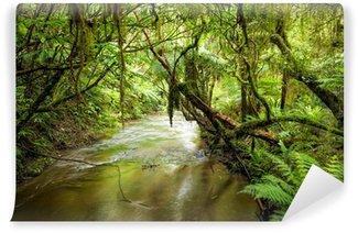 Papier Peint Vinyle Flux forêt tropicale