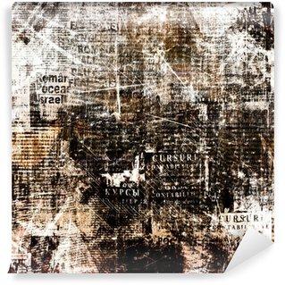 Papier Peint Vinyle Fond abstrait grunge de journal pour la conception avec la vieille déchiré po