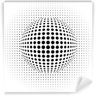 Papier Peint Vinyle Fond abstrait - illusion d'optique