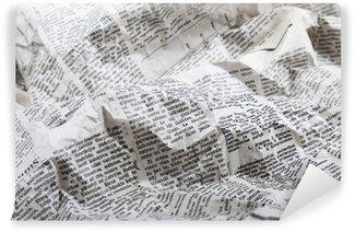 Papier Peint Vinyle Fond de vieux papier journal froissé