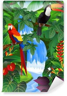 Papier Peint Vinyle Fond tropical Beauiful