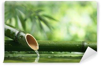 Papier Peint Vinyle Fontaine en bambou naturel