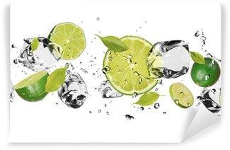 Papier Peint Vinyle Fruit de glace sur fond blanc