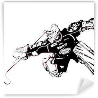 Papier Peint Vinyle Glace gardien de but de hockey