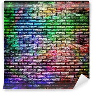 Papier Peint Vinyle Graffiti mur de brique