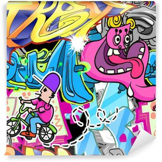 Papier Peint Vinyle Graffiti Urban Vector Background Art