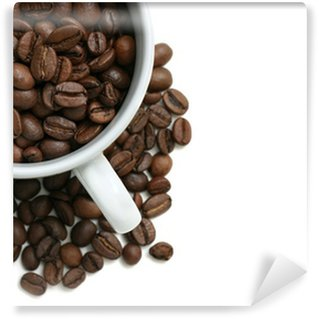 Papier Peint Vinyle Grains de café tasse