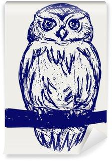 Papier Peint Vinyle Grand-duc. Sketch