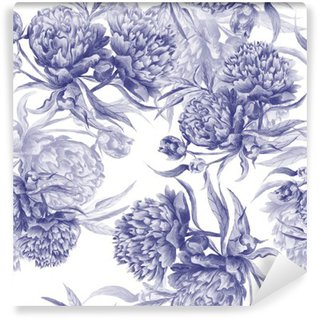 Papier Peint Vinyle Grisaille Aquarelle pivoine Texture