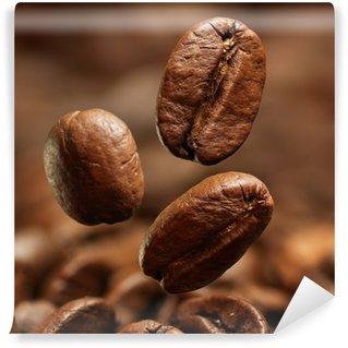 Papier Peint Vinyle Gros plan de grains de café