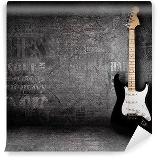 Papier Peint Vinyle Guitare électrique et le mur