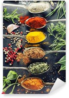 Papier Peint Vinyle Herbes et épices sélection