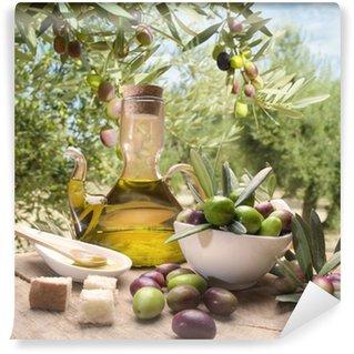 Papier Peint Vinyle Huile et d'olives