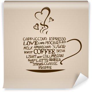 Papier Peint Vinyle Icône isolé tasse de café