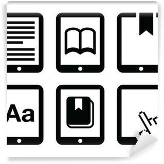 Papier Peint Vinyle Icônes lecteur d'E-livre, vecteur e-reader mis