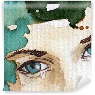 Papier Peint Vinyle Illustration d'aquarelle