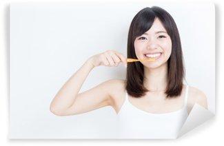 Papier Peint Vinyle Image attractive de la beauté de la femme asiatique