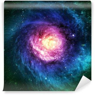 Papier Peint Vinyle Incroyablement belle galaxie spirale quelque part dans l'espace lointain