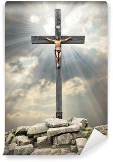 Papier Peint Vinyle Jésus-Christ sur la croix