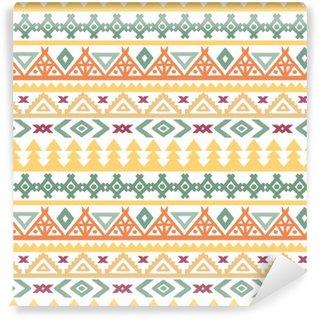 Papier Peint Vinyle L'art tribal boho ethnique seamless