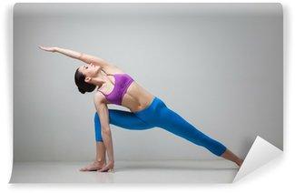 Papier Peint Vinyle La femme de yoga