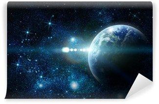 Papier Peint Vinyle La planète terre réaliste dans l'espace