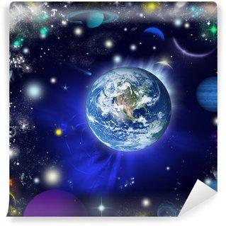 Papier Peint Vinyle La terre dans l'univers