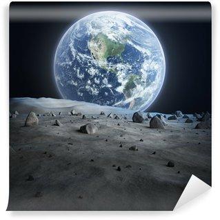 Papier Peint Vinyle La Terre vue de la Lune.