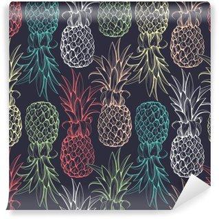 Papier Peint Lavable Ananas seamless pattern