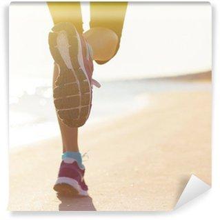 Papier Peint Lavable Courir sur la plage