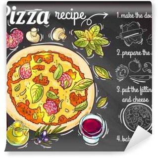 Papier Peint Lavable Italienne recette de pizza