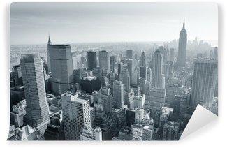 Papier Peint Lavable New York City skyline noir et blanc
