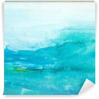 Papier Peint Lavable Touches de couleurs aquarelle art peinture