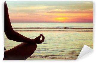Papier Peint Lavable Yoga résumé, lotus
