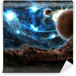 Papier Peint Vinyle Le monde perdu, planète, cosmos