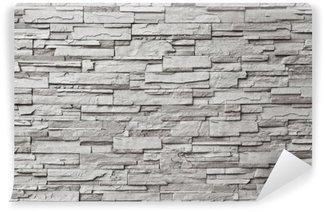 Papier Peint Vinyle Le mur de pierre grise moderne