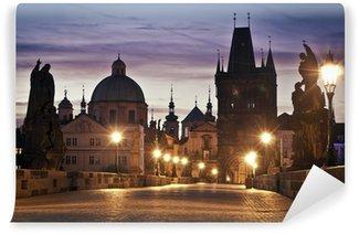 Papier Peint Vinyle Le pont Charles à Prague